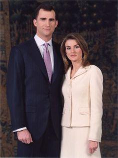 Heir to the Spanish throne, The PRÍNCE of ASTURIAS:  Felipe De Borbon and wife his wife Princess Letizia Ortiz Rocasolano of SPAIN.