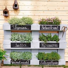 Mini-Gärten auf dem Balkon: So einfach geht's - home/haus Mini jardins sur le balcon: c'est aussi simple que cela house Herb Garden Design, Garden Types, Design Jardin, Easy Garden, Garden Path, Herb Garden Pallet, Diy Herb Garden, Amazing Gardens, Vegetable Garden