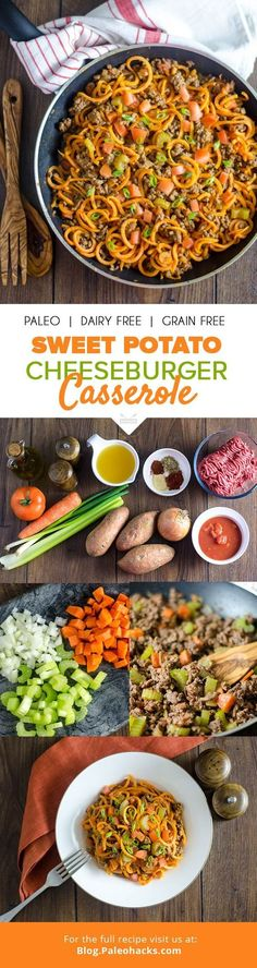 This hearty dish puts a healthy spin on the classic cheeseburger casserole! Get the recipe here: http://paleo.co/burgercasserole