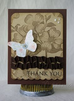 Rustic Butterfly by Nerina's Cards, via Flickr