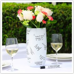 5491f69f9ae2 Bridal shower guest book idea... nice way to remember who came to ...