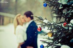 winter couple photo