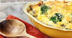 Ham and Broccoli Breakfast Bake -MOPS Uses English muffins