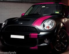 "2 Color 6"" Mini Countryman Cooper Clubman s Offset Stripes Stripe Graphics 