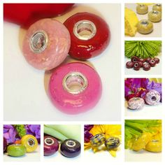 Beads Made From Flower Petals   ... Style Bead / Flower Petal Jewelry / Memorial Beads / Funeral Flowers