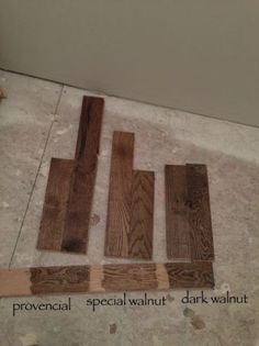 hardwood stain options: votes!