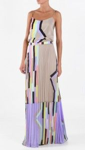 Tibi dress - so pretty...love the colors and style.