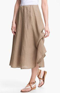 c59b6bd296 Eileen Fisher A-Line Linen Skirt (Regular   Petite)