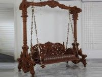 Indian Wooden Jhula Swing for Home Traditional Doors, Traditional Furniture, Traditional House, Wooden Swing Chair, Wooden Swings, Indian Furniture, Vintage Furniture, Victorian Furniture, Classic Furniture