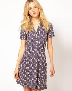 Aimée By People Tree | Aimée by People Tree Organic Jersey Floral Shirt Dress at ASOS