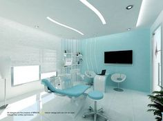 Stars House Dental clinic is offer top dental care services with the help of expert dentist they provide excellent cosmetic, preventive, restorative, and conventional dentistry. Dental Office Decor, Medical Office Design, Healthcare Design, Clinic Interior Design, Clinic Design, Design Clinique, Dentist Clinic, Cabinet Medical, Dental Design