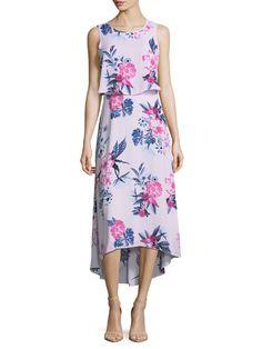 CECE Floral Garden High Low Dress