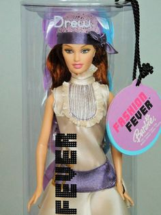 DREW (LARA FM) FASHION FEVER 2004 Barbie Doll (Ivory Satin 20s Style)_H0655_NRFB #BARBIE #DollswithClothingAccessories