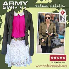#ninifashion #fashion #siman #military #army #instyle #streetstyle #fashionbysiman www.siman.com
