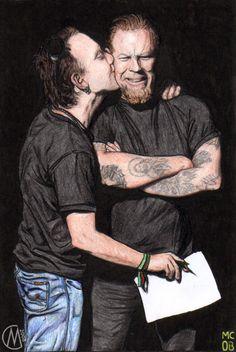 Lars Ulrich & James Hetfield (Metallica) - par Savousepate