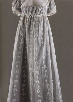 embroidered muslin gown belonging to empress josephine.
