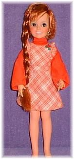 Crissy doll - all mine. A beautiful main of growing red hair, all the way to her ankles. A twist of the knob on her back would feed her tresses back insider her head. I so loved my Crissy doll. Ideal Toys 1969