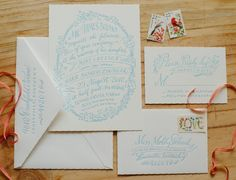 Molly + Mark's Floral-Inspired Southern Wedding Invitations | Design: Holly Hollon | Letterpress Printing: Patrick Masterson | Photo Credit: Spindle Photography