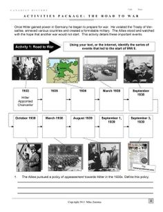 The Road to World War Two: An in-depth and interesting overview of the events leading to the start of World War Two. The package also thoroughly covers the events early in the war from 1939 - 1940.