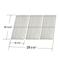 Heavy Duty BBQ Parts 50193 Porcelain Steel Channel Cooking Grid for Char-Broil/Kenmore/Master Chef/Outdoor Gourmet/Shinerich Brand Gas Grills