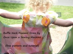 One Free Pattern & Tutorial, Four Peasant Dresses, The Ruffle Neck Peasant Dress