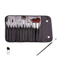 13 Piece Makeup Brush Set and Case $2.21