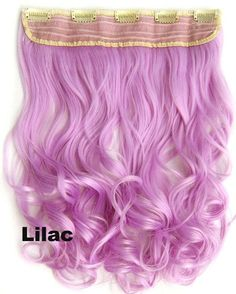 """Clip in on long wavy curl full head set synthetic hairpieces Heat resistance synthetic hair extension 130g ,24"""",1pc"""