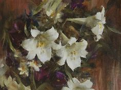 Lilies by Laura Robb Oil ~ 12 x 16