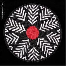 "Imbenge Zulu ""Hardwire""Wire Basket - geometric style"