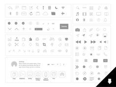 iOS 7 Icons: Natives and Basics (for Sketch app) #FreeIcon from http://ortheme.com