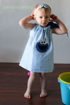 Cookie Monster Pillowcase Dress by DesignsbyTTCT on Etsy, $20.00