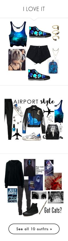 """""""I LOVE IT"""" by grp12698 ❤ liked on Polyvore featuring tops, shirts, crop tops, tanks, grey, women's clothing, star print shirt, wrap tops, gray crop top and green shirt"""