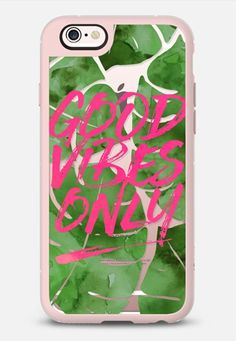 Casetify iPhone 7 Case and Other iPhone Covers - Good Vibes Only // Tropical Watercolor Palms in Pink by Frost Design Co.   #Casetify
