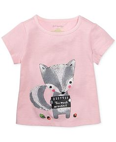 First Impressions Baby Girls' Squirrel Tee - Kids - Macy's