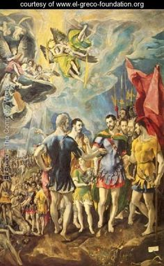 The Martyrdom of St Maurice 1580-81 - El Greco (Domenikos Theotokopoulos) - www.el-greco-foundation.org