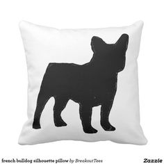 french bulldog silhouette pillow