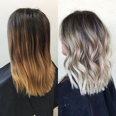 Blunt, Wavy Shoulder Length Haircut - Women Medium Hairstyles 2017 - Ombre Balayage