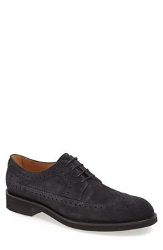 Tod's 'Derby' Suede Wingtip (Men) available at #Nordstrom