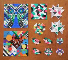 Graphic Hama beads by Camilla Drejer