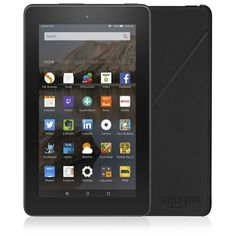"""QVCUK Amazing TSV Offer from Amazon until midnight or while stocks last 508987 Amazon Fire 7"""" WiFi Tablet with 16GB Storage Case & 32GB Micro SD Card for under £50.00 on 3 Easy Pay in BLACK RRP: £120.00 QVC Price: £60.00 TSV £49.92 + P&P: £5.95 or 3 Easy Pays of £16.64 +P&P The multi-purpose Amazon Fire tablet features a 7"""" touchscreen, a quad-core processor, 16GB of built-in storage and 1GB RAM for a fast and responsive experience, and comes complete with a black case and a 32GB memory…"""