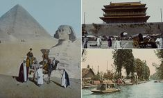 Colourised pictures show round-the-world trip more than 120 years ago #DailyMail