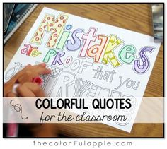 Coloring pages for big kids with motivational quotes for an elementary school classroom. Perfect for both classroom décor and management!