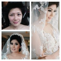 Make up by La Rose #bridalmakeup #wedding #beforeafter #larosebridal