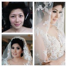 Make up by La Rose #bridalmakeup #wedding #beforeafter #larosebridal