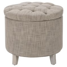 Stow books and throws in this chic storage ottoman, or use it to offer guests a seat at your next soiree. Pairing a button-tufted top and grey-hued upholster...
