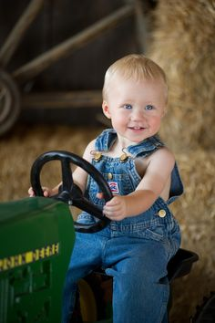 A photo of your little boy or girl on a John Deere pedal tractor would be an amazing gift for grandparents. Find pedal tractors and more at GreenToysr4U.com!