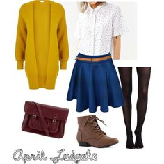 April Ludgate (v1) by arielle-walsh on Polyvore featuring polyvore fashion style River Island Native Youth SPANX WearAll The Cambridge Satchel Company