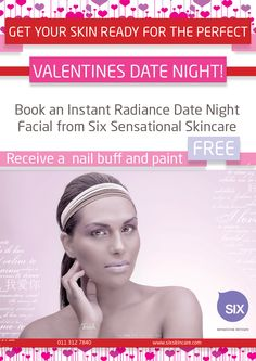 The best Valentines Gift for you special lady. SIX sensational Skincare facial with a file and polish free to really make your loved one feel special. To find out more about a spa or salon near you contact us at www.sixsensationalskincare.com Spa Specials, How To Find Out, How To Make, Beauty Industry, Feeling Special, Science And Nature, Your Skin, Feel Good, Salons