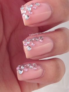 Valiantly Varnished: 3D Nail Art Week - Rhinestone Cascade