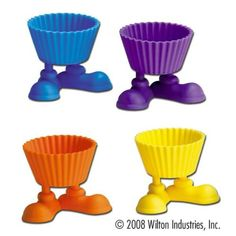 Silicone Baking Cups Silly Feet 4Pkg ** For more information, visit image link. (This is an affiliate link) #BakingCups